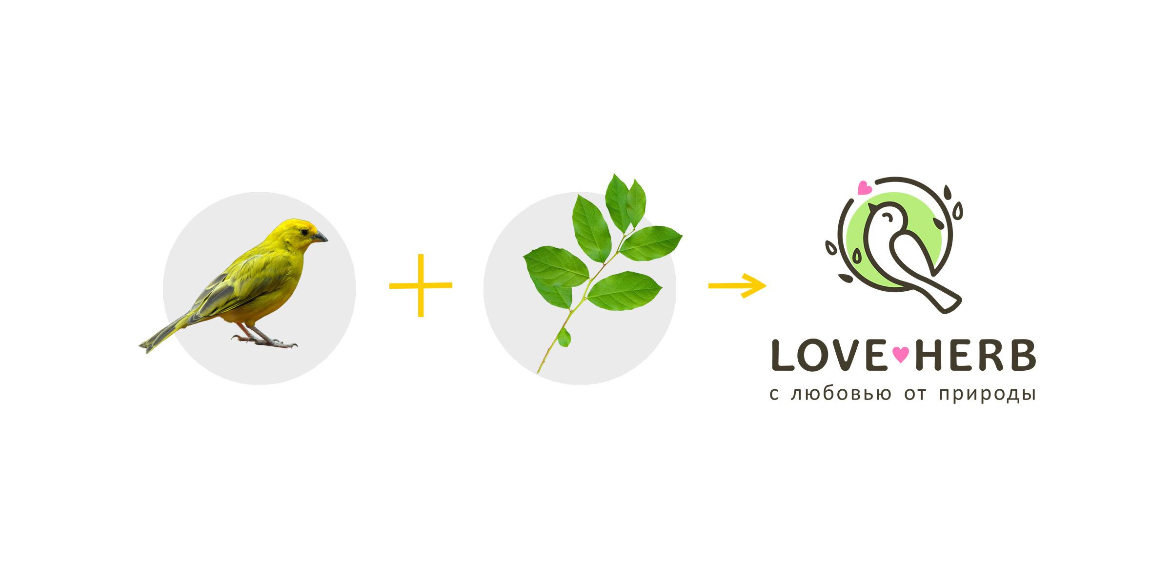 Логотип «Loveherb»